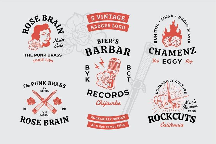 Rockabilly Badges example image 1