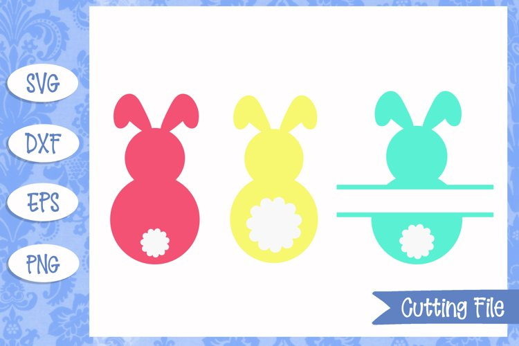 Bunny Monogram Easter SVG Files example image 1
