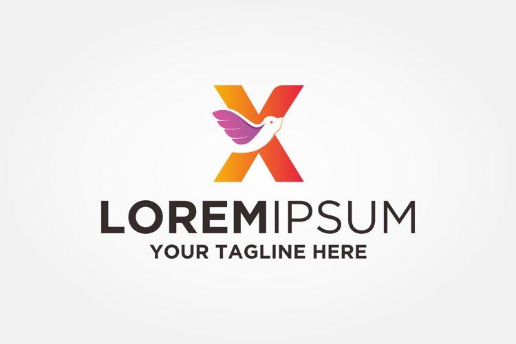 Letter X Bird Logo example image 1