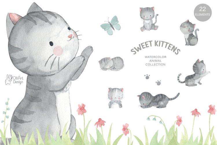 LITTLE KITTEN. Cat clipart example image 1