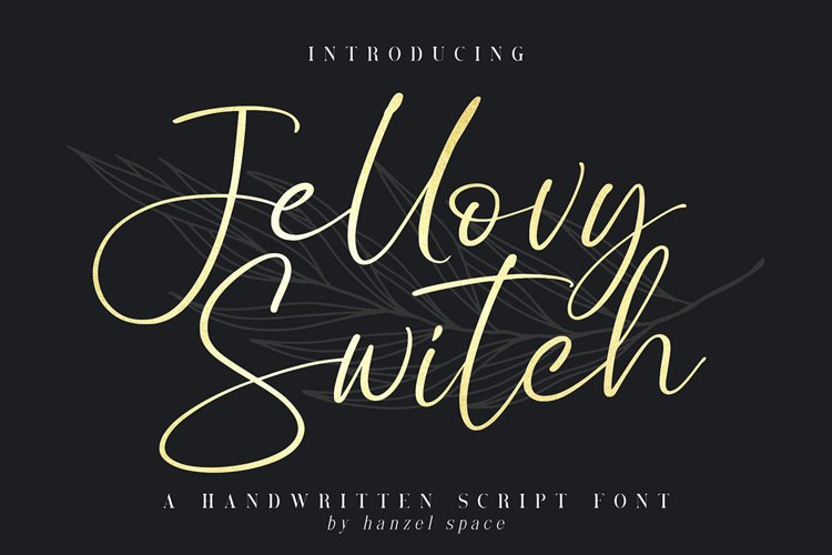 Jellovy Switch Script Font example image 1