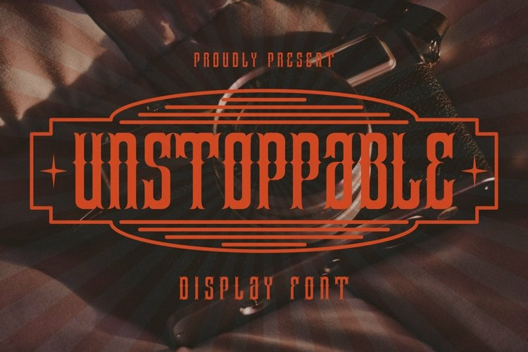 Web Font Unstoppable Font example image 1