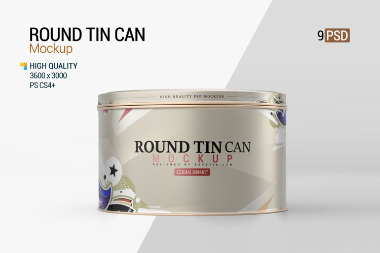 Round Tin Can Mockup example image 1