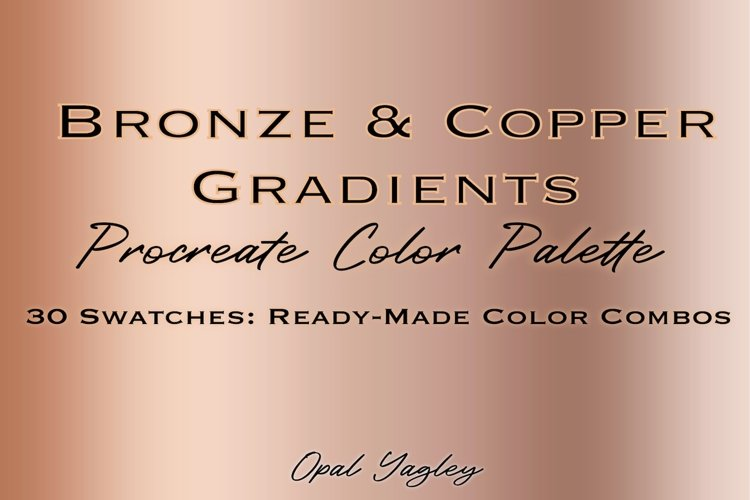 Bronze & Copper Procreate Metallic Color Palette example image 1