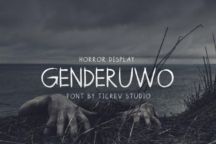 Genderuwo-Horror Display Font example image 1
