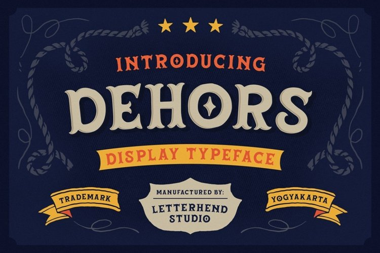 Dehors - Western Display Typeface example image 1