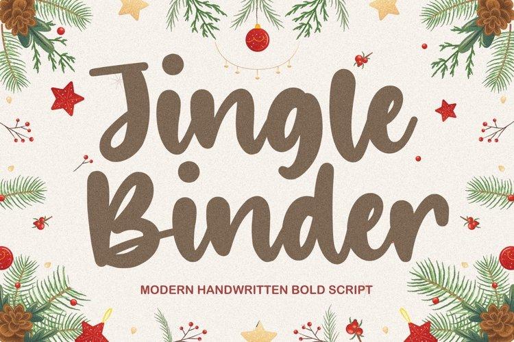Jingle Binder Modern Handwritten Bold Font example image 1
