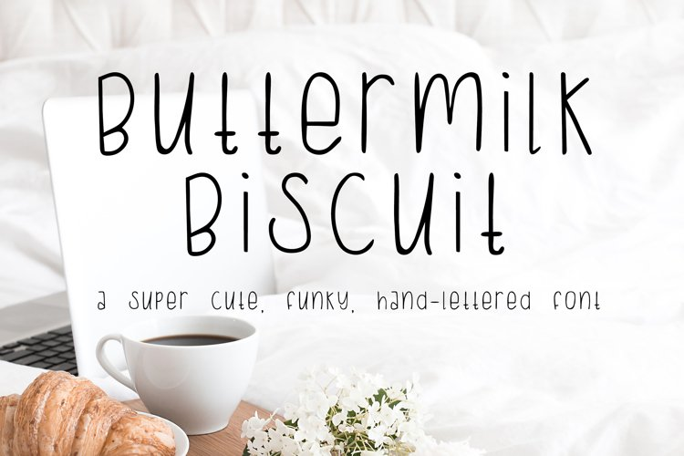 Buttermilk Biscuit Hand-lettered Sans Font example image 1