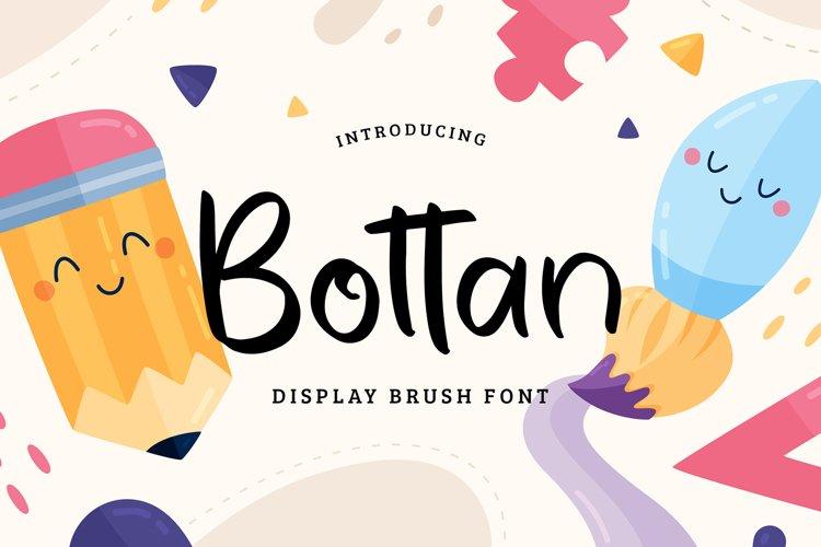 Bottan Display Brush Font example image 1