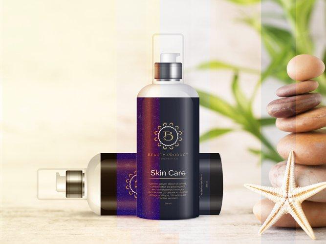 Cosmetic Bottle Mockup, Shampoo and Oil Bottle mock up
