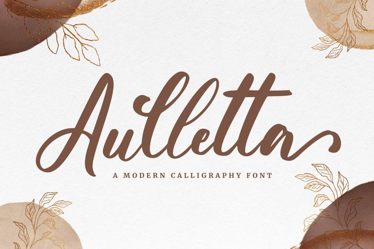 Aulletta - Romantic Font example image 1