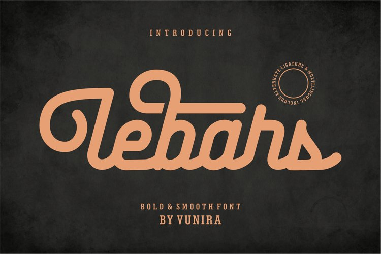 Lebars | Bold & Smooth Font example image 1