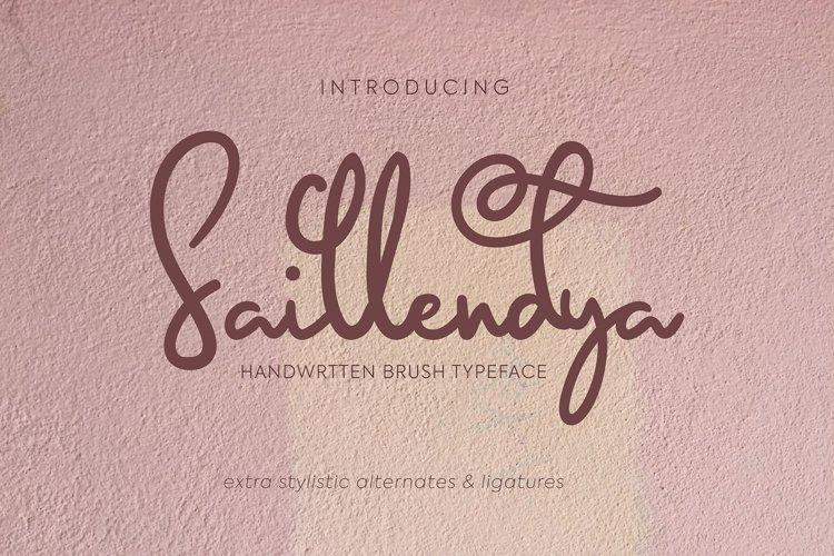 Saillendya   Handwritten Brush Typeface example image 1