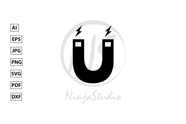 Magnet Icon In Flat Style Vector example image 1
