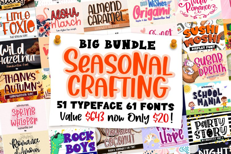 BIG BUNDLE - Seasonal Crafting Font Collection!!