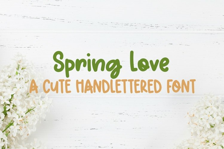 Web Font Spring Love - A Cute Hand-Lettered Font example image 1