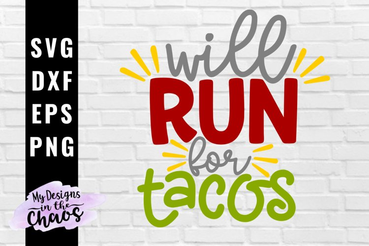 Taco SVG EPS DXF PNG| Fitness SVG | Work Out Cutting File