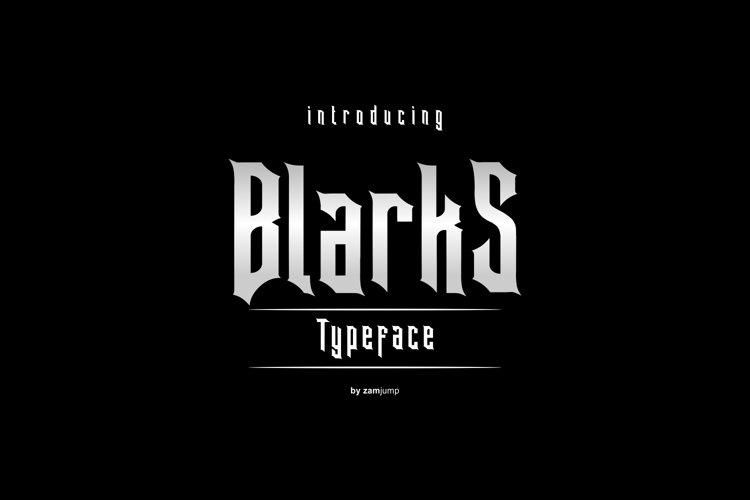 BLARKS DISPLAY FONT example image 1