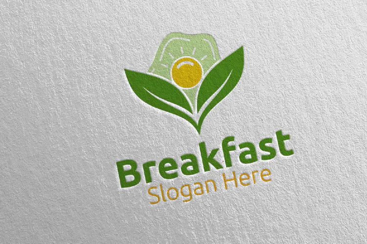 Fast Food Breakfast Delivery Logo 18 example image 1
