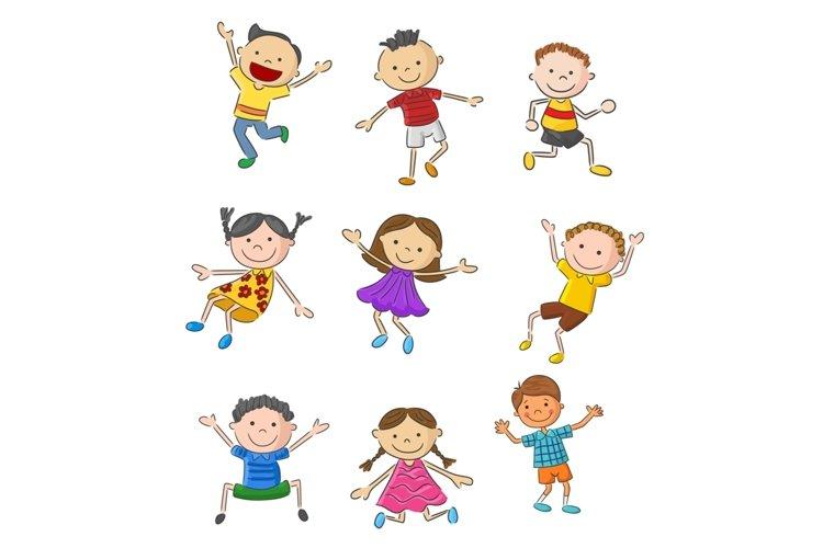 Set of Twenty-six Cartoon Little Kids Character example image 1