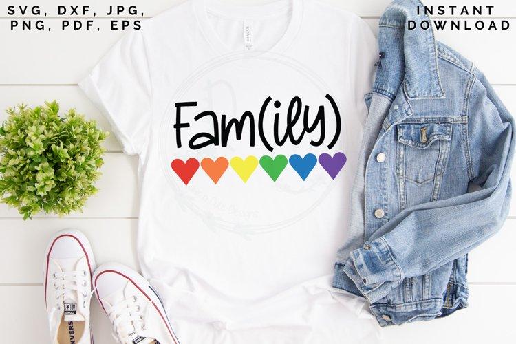 Family SVG, Family Love SVG, Rainbow Hearts SVG