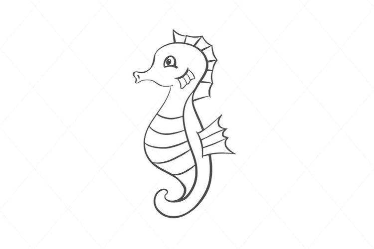 Baby seahorse svg, seahorse cut file, seahorse clip art example image 1