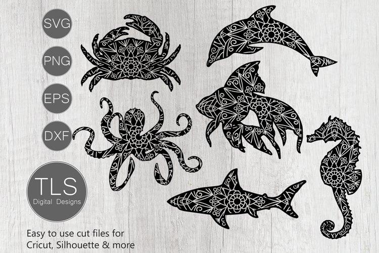 Sea animals SVG