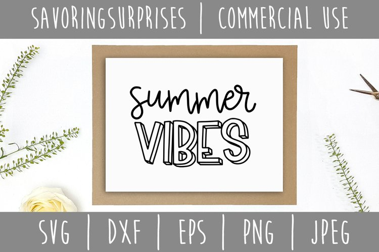 Summer Vibes SVG, DXF, EPS, PNG, JPEG example 1