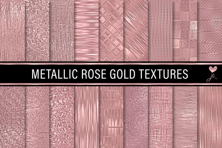 Metallic Rose Gold Textures example image 1