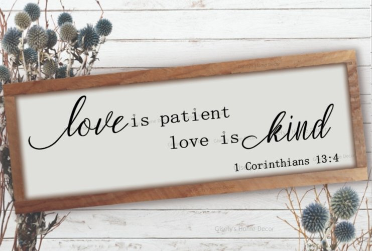 Love is patient love is kind SVG example image 1