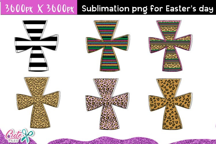 Cross Designs Easter sublimation clipart