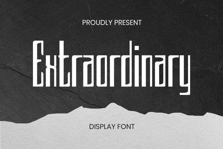 Web Font Extraordinary Font example image 1