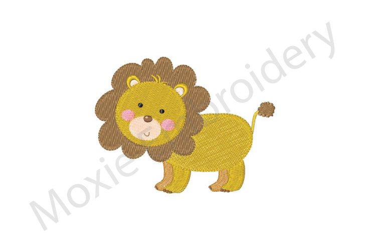 Lion Embroidery Design example image 1