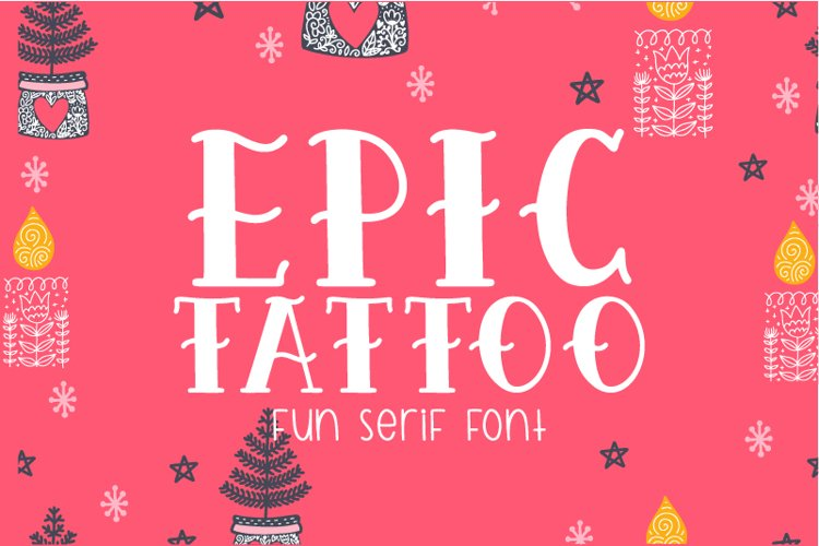 Epic Tattoo Font example image 1