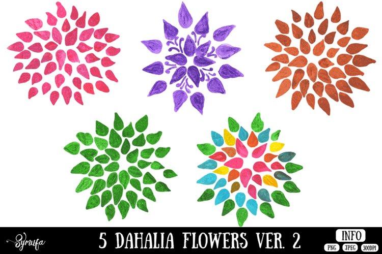 Dahlia Flower Clip Art Ver. 2 example image 1