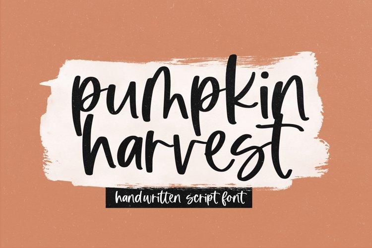 Pumpkin Harvest - Modern Handwritten Script Font example image 1