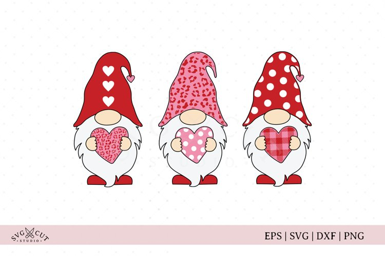 Valentines Day Gnomes SVG files