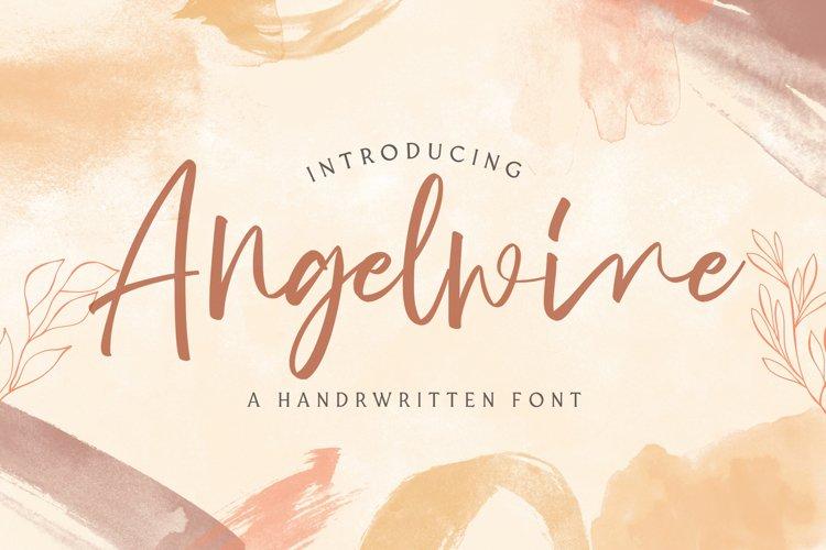 Angelwine - Handwritten Font example image 1