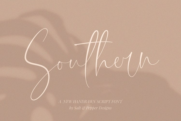 Southern Script Font example image 1