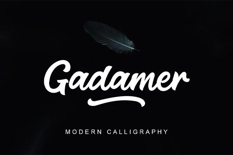 Gadamer | Modern Calligraphy example image 1