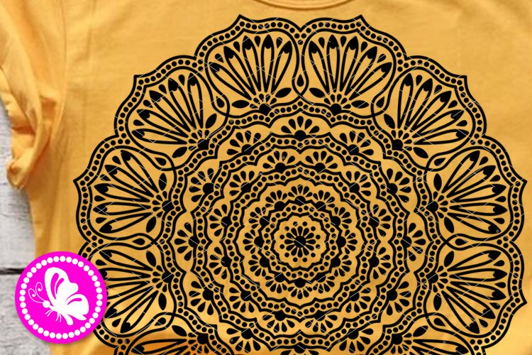 Indian Mandala Flowers svg floral decor Meditation Yoga Png example image 1