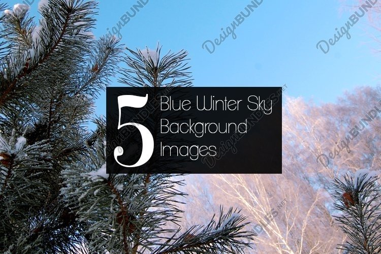Blue Winter Sky Background Stock Images