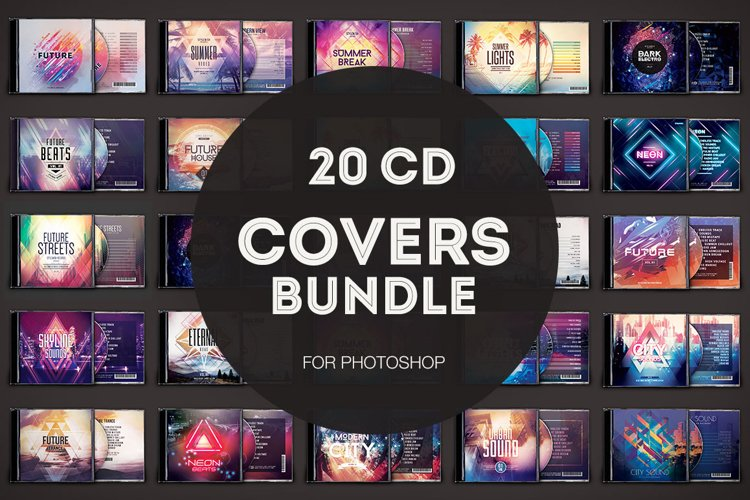 20 CD Cover Templates Bundle example image 1