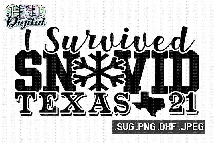 I Survived Snovid 21 svg, Texas Strong svg, Texas svg, Texas