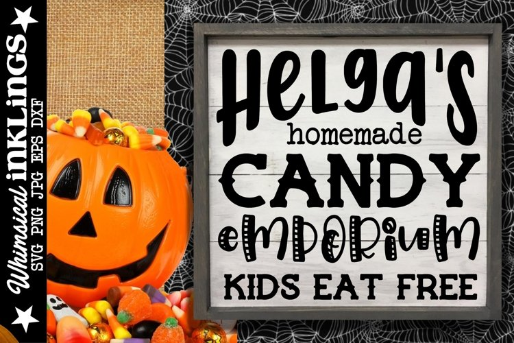 Helga's Homemade Candy-Halloween SVG example image 1