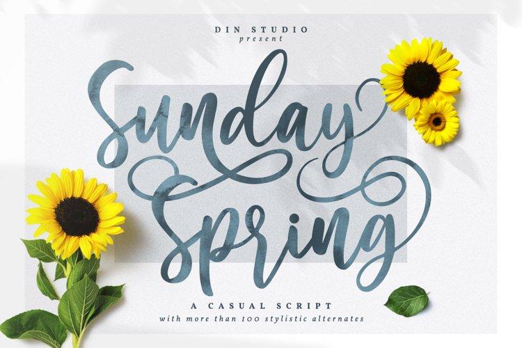 Sunday Spring - Chic Brush Font example image 1