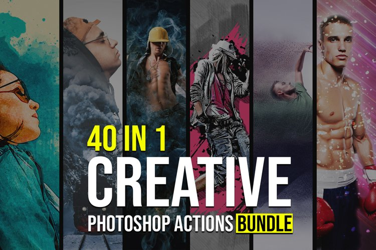 40 in 1 Creative Photoshop Actions Bundle example image 1