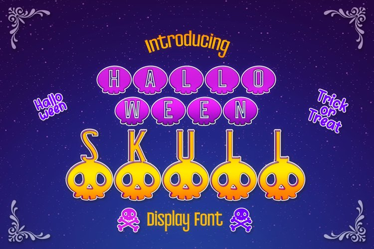 Halloween Skull Display font example image 1