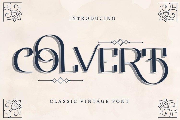 Colvert | Classic Vintage Font example image 1