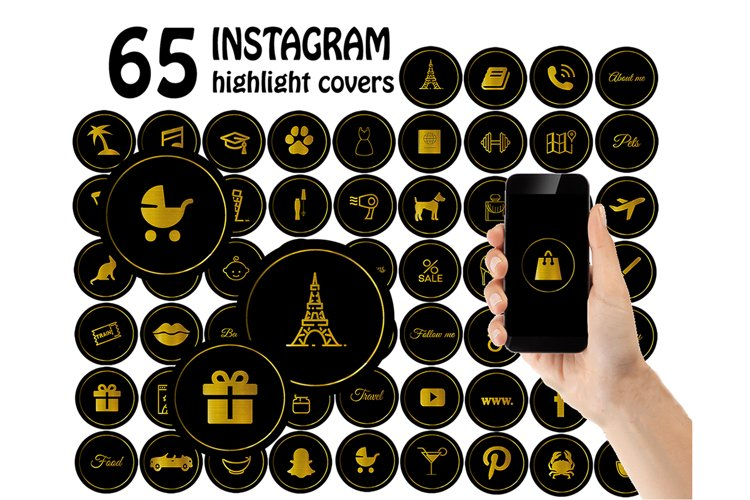 black gold instagram highlight covers .JPG example image 1